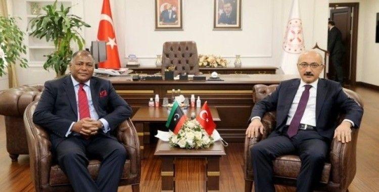 Bakan Elvan, Libya Maliye Bakanı Halid El-Mabrouk Abdullah ile görüştü