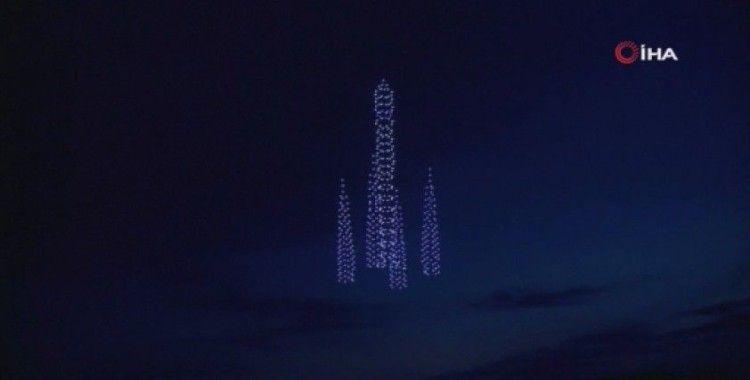 Rusya'da Kozmonotlar Günü'ne özel 500 drone ile şov