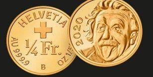 İsviçre'nin ürettiği Einstein'lı hatıra parası, Guinness Rekorlar Kitabı'nda