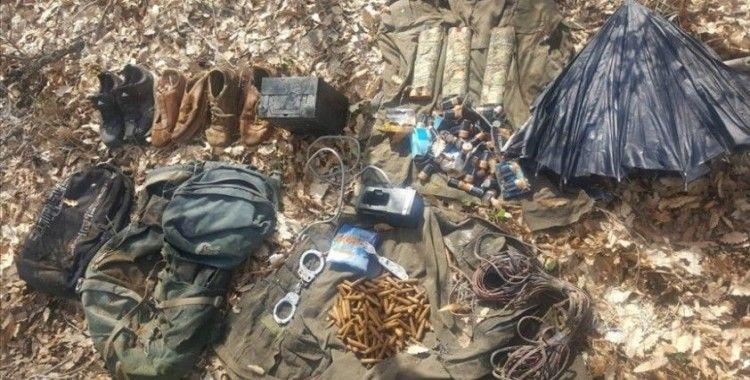 Tunceli'de teröristlerin kullandığı sığınak imha edildi