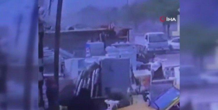 Bağdat'taki bomba yüklü aracın patlama anına ait görüntüler ortaya çıktı