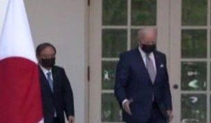 ABD Başkanı Joe Biden ve Japonya Başbakanı Suga Beyaz Saray'da bir araya geldi