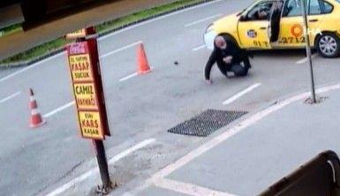 Taksicinin vurulma anı güvenlik kameralarına böyle yansıdı