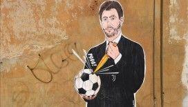 Avrupa Süper Ligi'nin kurucularından Agnelli'ye tepki olarak duvar resmi çizildi