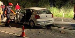 Silivri'de otomobil kamyona arkadan çarptı: 1 ölü