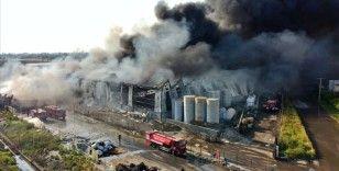 Osmaniye'de geri dönüşüm fabrikasının deposunda çıkan yangın kontrol altına alındı