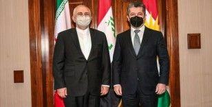 İran Dışişleri Bakanı Zarif, Erbil'de IKBY Başbakanı Barzani ile görüştü