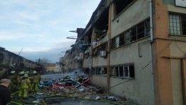 Bağcılar'da fabrikada meydana gelen büyük patlama kamerada