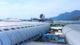 Çin'de sürücüsüz drone taksi 2 yolcusuyla uçtu
