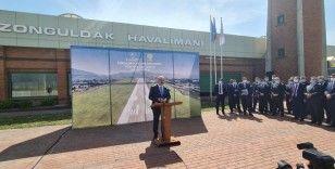 Bakan Karaismailoğlu, Zonguldak Havalimanı'nda 2 bin 131 metreye uzatılan pistin açılışını yaptı