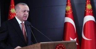 Cumhurbaşkanı Erdoğan: İşçinin o kutsal alın terini sömürmek isteyenlere fırsat vermeyeceğiz