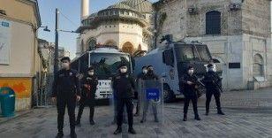Taksim Meydanı'nda 1 Mayıs Emek ve Dayanışma Günü önlemleri