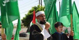 Gazze'de genel seçimlerin ertelemesine karşı protesto