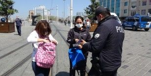 Taksim ve İstiklal Caddesi'nde tam kapanma denetimi