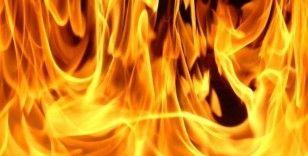 Başakşehir'de korkutan gecekondu yangını