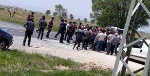 DSİ yetkileri ile köylü arasında arbede çıktı