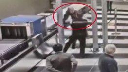 Moskova'da havalimanına maskesiz giren yolcu, güvenlik görevlisine saldırdı