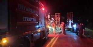Diyarbakır-Bingöl karayolunda iki tır kafa kafaya çarpıştı: 3 yaralı