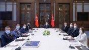 Fuat Oktay, Bakan Pakdemirli ile KKTC Tarım ve Doğal Kaynaklar Bakanı Çavuşoğlu'nu kabul etti