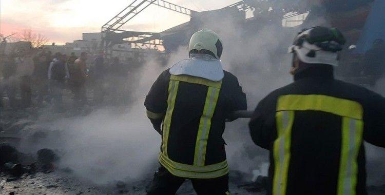Azez'de iftar öncesi bomba yüklü araçla yapılan terör saldırısında 5 sivil yaralandı