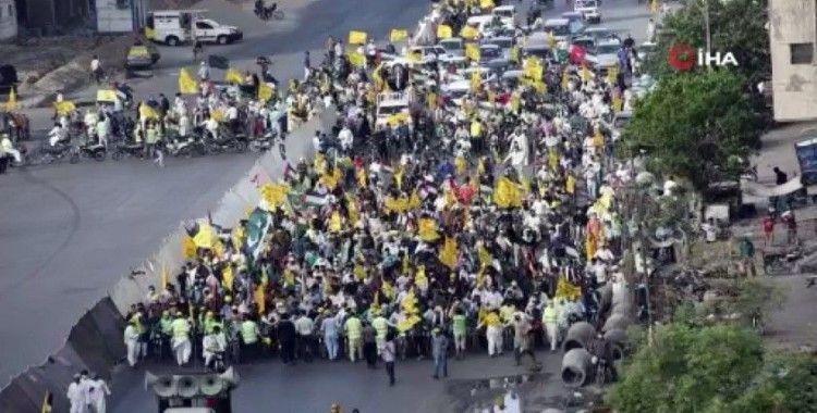 Pakistan'da Kudüs Günü'nde Kudüs'e destek gösterisi