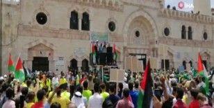 Ürdün'de İsrail zulmüne maruz kalan Kudüs ile dayanışma gösterisi