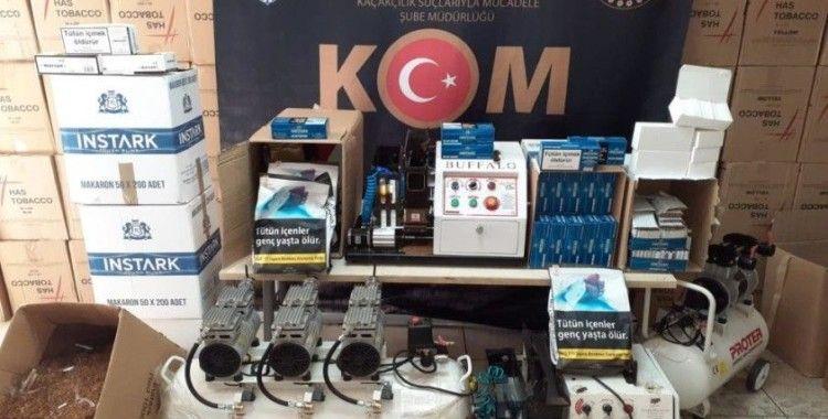 İzmir'de kaçak sigara ve alkol üreticilerine 2 milyon TL'lik darbe
