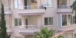 Polisten kaçmak için balkondan 6'ncı kattan 5'inci kata indi