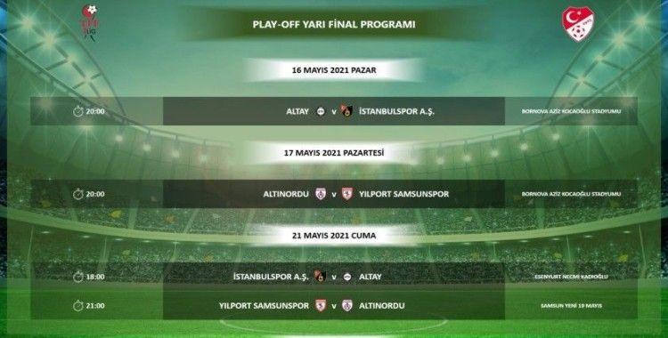 TFF 1. Lig play-off maçlarının programı belli oldu