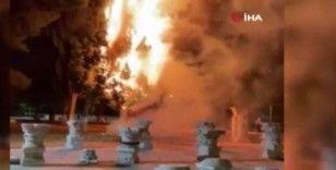 Mescid-i Aksa'nın bahçesinde yangın