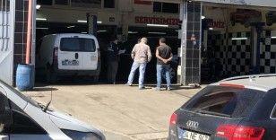 Oto tamirci dükkanına silahlı saldırı