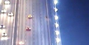 FSM'de motosikletli gencin hayatını kaybettiği kaza kamerada