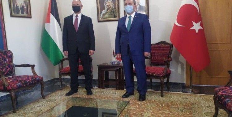 BBP Genel Başkanı Destici, Filistin Büyükelçiliğini ziyaret etti