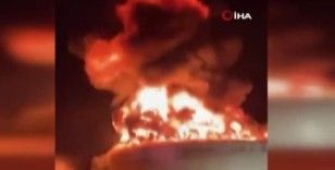 Trans-İsrail petrol boru hattına ait petrol tankı roketle vuruldu