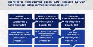 Yeni yıldan itibaren gerçekleştirilen FETÖ mahrem operasyonlarında bin 565 kişi gözaltına alındı