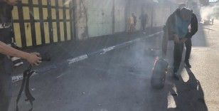 İsrail güçleri El Halil'de Filistinlilere müdahale etti