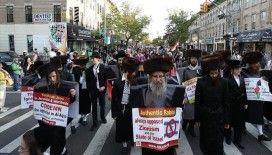 New York'ta, Nekbe'nin 73. yılı ve Filistinlilere yaptığı saldırılar dolayısıyla, İsrail protesto edildi