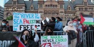İsrail'in Filistinlilere yönelik saldırıları Kanada'da protesto edildi