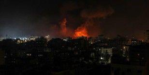 İsrail'in Gazze Şeridi'ne hava saldırıları gece boyunca devam etti