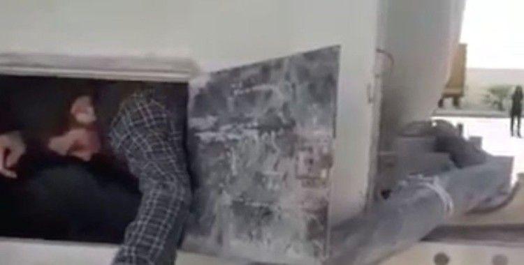 Suriye'ye giden çimento yüklü kamyonda 6 mülteci yakalandı