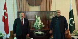 TBMM Başkanı Şentop, Pakistan Ulusal Meclis Başkanı Kayser ile bir araya geldi