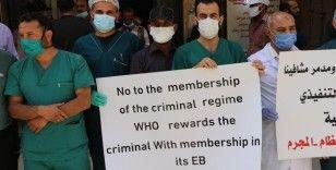 Suriyeli sağlık çalışanları, Esad rejiminin DSÖ'nün Yürütme Kurulu'na üye seçilmesini protesto etti