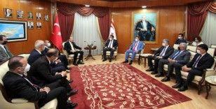 Bakan Muş, KKTC Başbakanı Saner tarafından kabul edildi