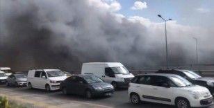Başkentte kimyasal madde üreten bir iş yerinde yangın çıktı