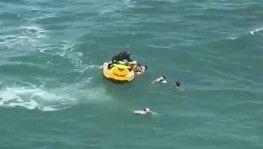 Şile'de boğulma tehlikesi geçiren 5 kişiyi itfaiye kurtardı