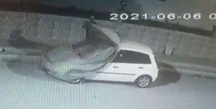 Hırsızın rahatlığını alarm bile bozamadı