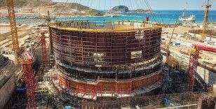 Akkuyu Nükleer Güç Santrali'nin birinci güç ünitesinde çalışmalar sürüyor