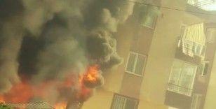 Antalya'da korkutan yangında ev alev topuna döndü