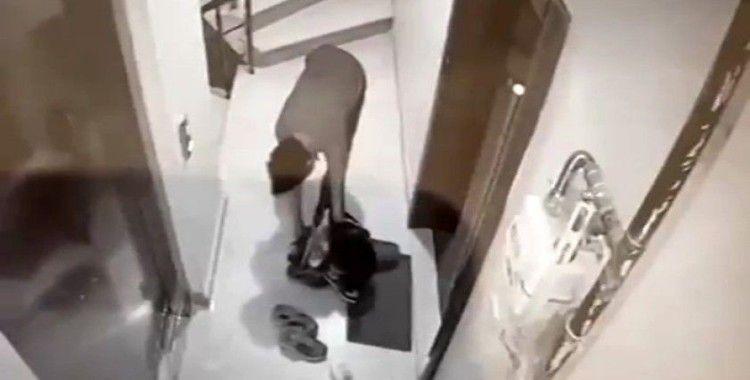 Bayrampaşa'da bir hırsız ayakkabıları seçerek çaldı