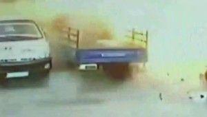 PKK-KCK terör örgütünün Suriye'deki bombalı saldırısı kamerada